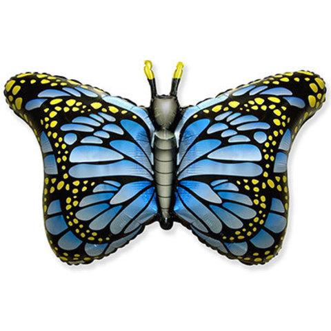 Шар фигура Бабочка крылья голубые