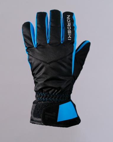 Перчатки Nordski Arctic Black/Blue Membrane