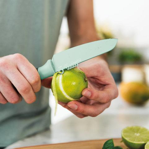 Нож для овощей и цедры 11см Leo (мятного цвета)
