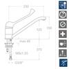 Смеситель для раковины с поворотным изливом и медицинской ручкой VULCANO 6999KMED - фото №2