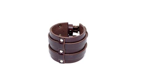 Мужской браслет из натуральной кожи