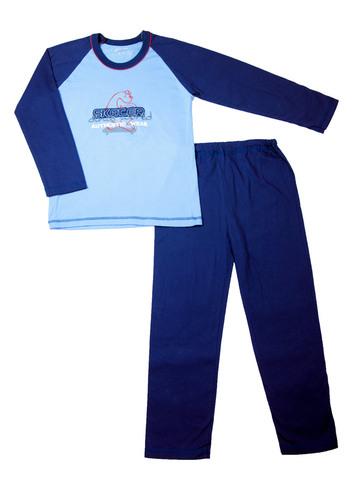 Пижама детская синяя 445