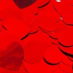Конфетти фольга, Сердца, Красный, 3см, / 50г. /