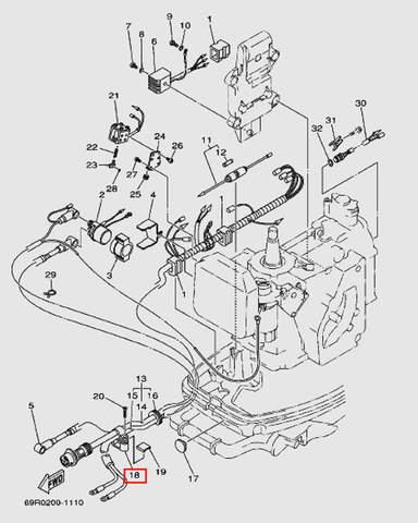 Хомут для лодочного мотора Т30 Sea-PRO (9-18W)