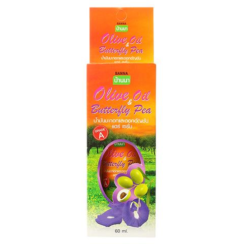 Сыворотка для волос Оливковое Масло и Мотыльковый Горошек, Banna, 60 мл.