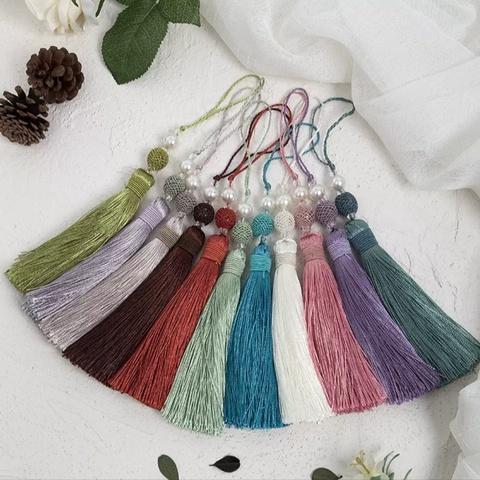 Кисть декоративная, длина 16 см (выбрать цвет)