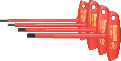 Набор 6-гранных ключей с поперечной рукояткой полностью изолированный 4
