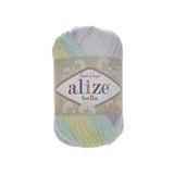 Пряжа Alize Bella Batik меланж бел-сирен-голуб 2132