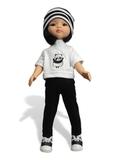 Костюм с футболкой и курткой - На кукле. Одежда для кукол, пупсов и мягких игрушек.