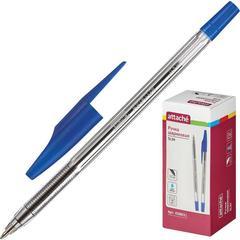 Ручка шариковая Attache Slim синяя (толщина линии 0.5 мм)