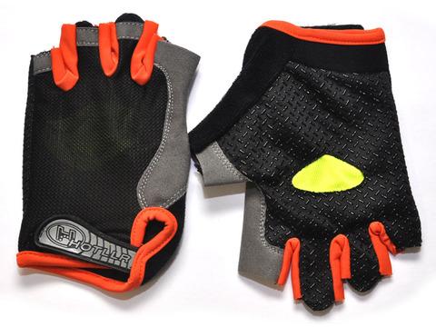 Перчатки для велосипедистов. Материал: трикотажная ткань, искусственная замша. JZ-4009