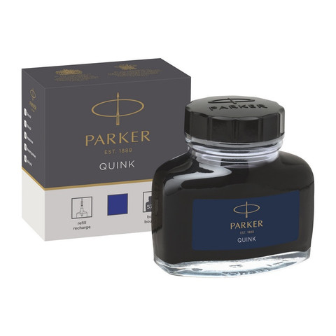 Чернила Parker Quink синие 57 мл (в стеклянном флаконе)