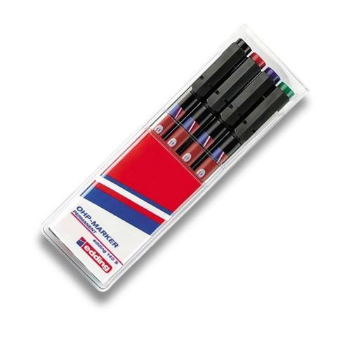 Набор маркеров промышленных Edding E-140 S/4 для глянцевых поверхностей и пленок 4 цвета (0.3 мм)