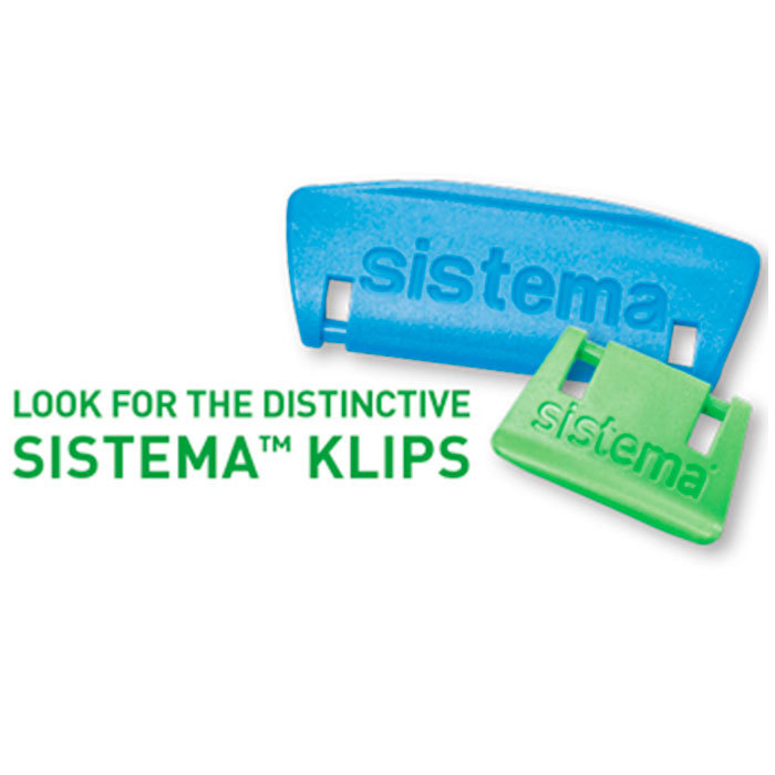 """Контейнер пищевой Sistema """"KLIP IT"""", двойной, 2 л, цвет Голубой"""