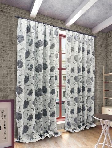 Готовые шторы Ранди серый