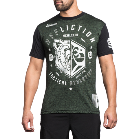 Футболка Affliction Grizzly Sport зеленая