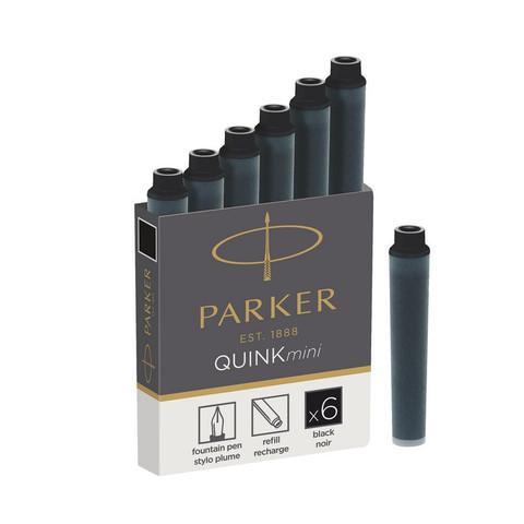 Чернила в патронах Parker черные (мини, 6 штук в упаковке)