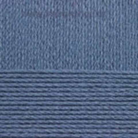 Пряжа Хлопок натуральный (Пехорка) джинсовый 255