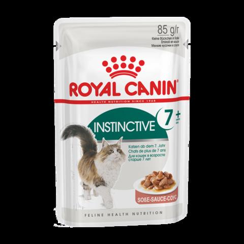Royal Canin Instinctive +7 Консервы для взрослых кошек старше 7 лет кусочки в соусе (Пауч)