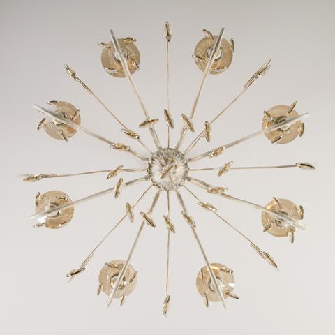 Классическая люстра с хрусталем 10104/8 белый с золотом/тонированный хрусталь Strotskis