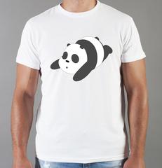 Футболка с принтом Панда, Медвежонок (Panda) белая 0034