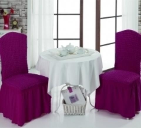 Чехлы на стулья (2 шт) цвет светло-лавандовый