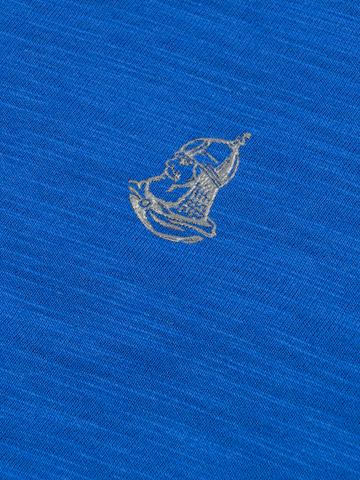 Мужская футболка «Великоросс» синего цвета круглый ворот