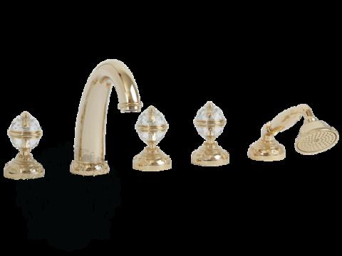 Смеситель для ванны на 5 отв. Migliore Cristalia Swarovski ML.CRS-3780