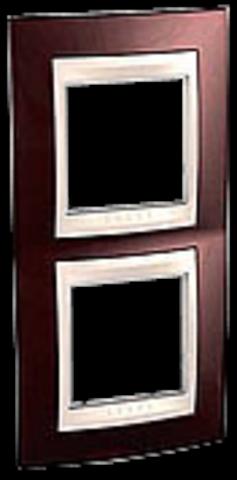 Рамка на 2 поста. Цвет вертикальная Терракотовый/Бежевый. Schneider electric Unica Хамелеон. MGU6.004V.551