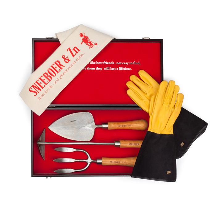 Набор садовых инструментов Sneeboer в деревянной коробке 4 предмета