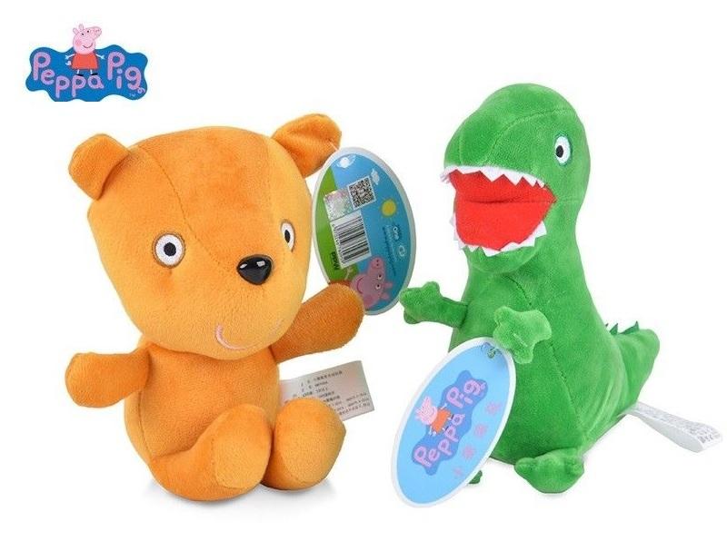Розовая Свинка игрушки мягкие Дракон и Медведь