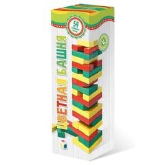 Цветная башня с кубиком