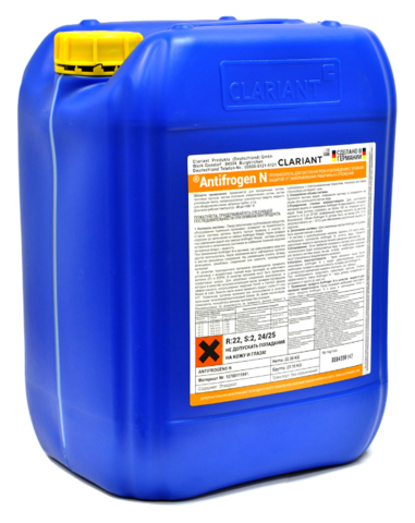 Clariant Antifrogen N 20 л - этиленгликоль теплоноситель для систем отопления