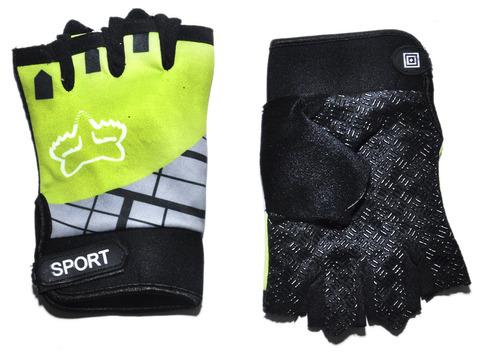 Перчатки для велосипедистов. Материал: синтетическая ткань, сетка.  JZ-4019