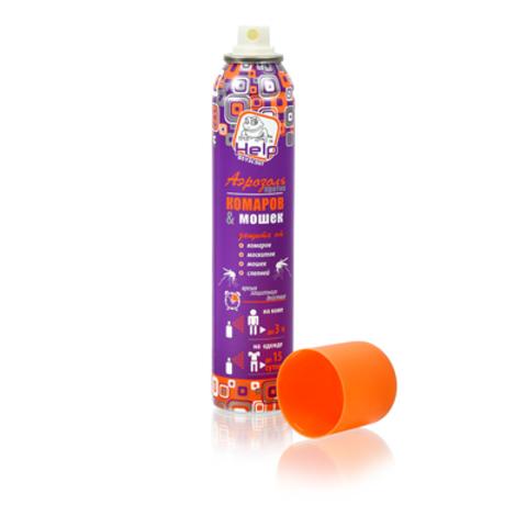 Аэрозоль от комаров и мошек HELP репеллентный 200мл