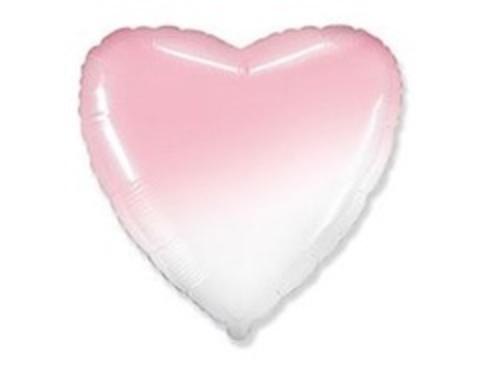 F Сердце Градиент розовый, 18