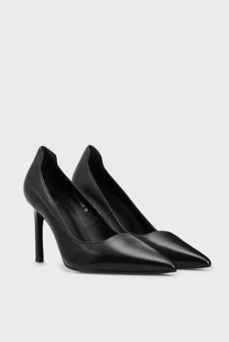 Женские черные кожаные туфли Rebeca PRPY