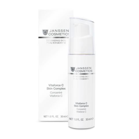 Регенерирующий концентрат с витамином С, Janssen Vitaforce C Skin Complex, 30 мл.