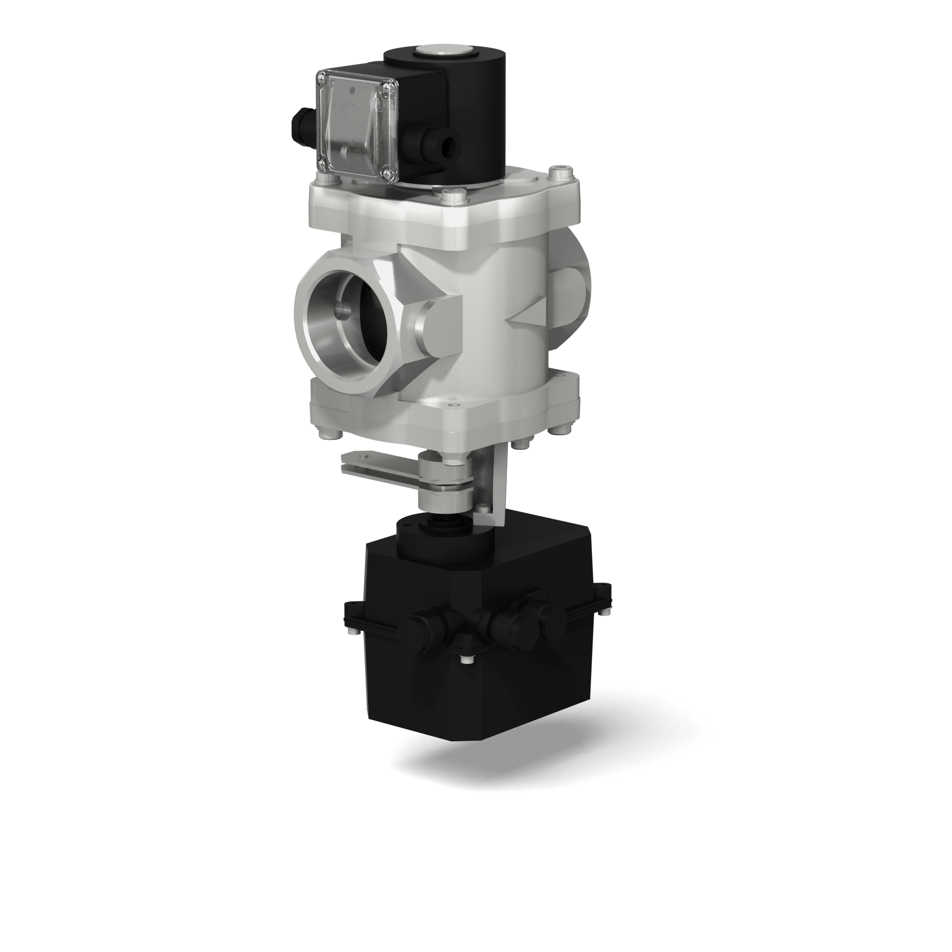 Клапаны электромагнитные двухпозиционные муфтовые с электроприводом регулятора расхода на DN 40-50 (привод SP0)
