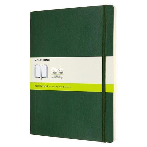 Блокнот Moleskine CLASSIC SOFT QP623K15 XLarge 190х250мм 192стр. нелинованный мягкая обложка зеленый