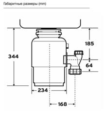 Измельчитель пищевых отходов In-Sink Erator Evolution 250
