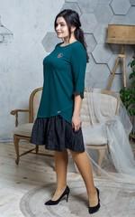 Жаклін. Повсякденна сукня великих розмірів. Смарагд