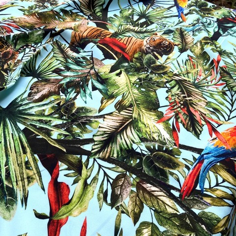 Кади вискозное принт  тропический прин фото