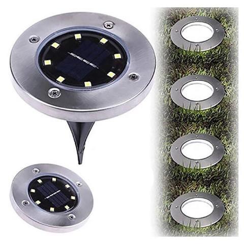 Садовый Светильник На Солнечной Батарее Disk Lights 8 Led