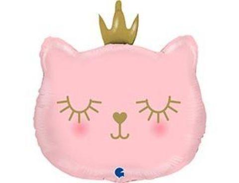 Фольгированный шар  Голова кошки в короне