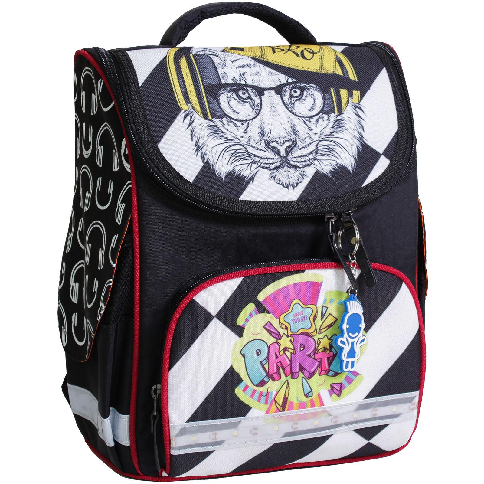 Рюкзак школьный каркасный с фонариками Bagland Успех 12 л. черный 175k (00551703)