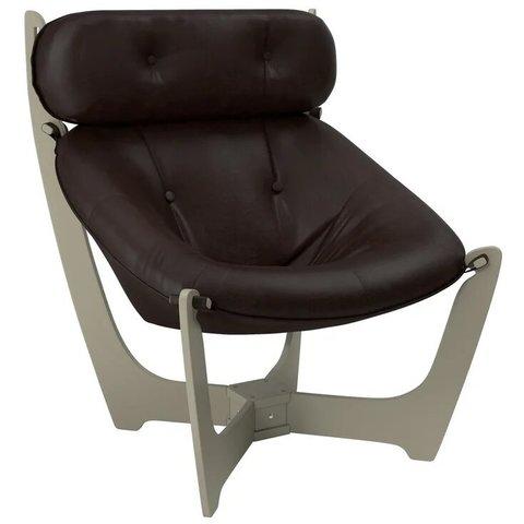Кресло для отдыха Комфорт Модель 11 серый ясень/Real Lite DK Brown
