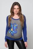 Джемпер для беременных 01824 синий