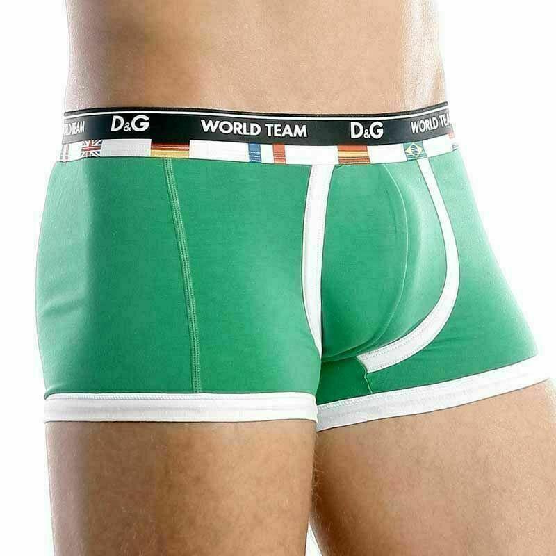 Мужские трусы боксеры зеленые D&G World Team Green