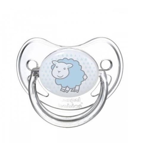 Пустышка анатомическая силиконовая, 6-18 Transparent (овечка)